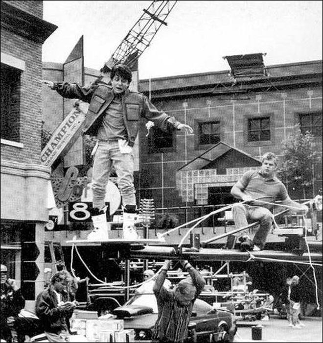 Hoverboard BTTF Behind the Scenes