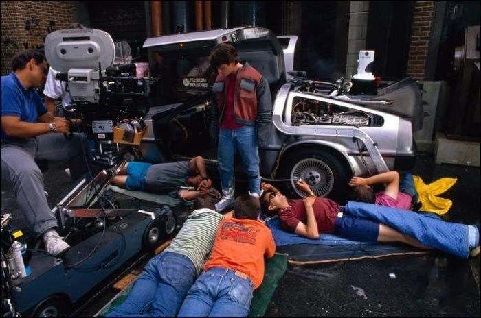 Marty McFly Behind the Scenes