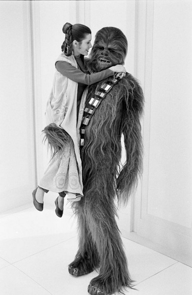 A Princess & a Wookie Behind the Scenes