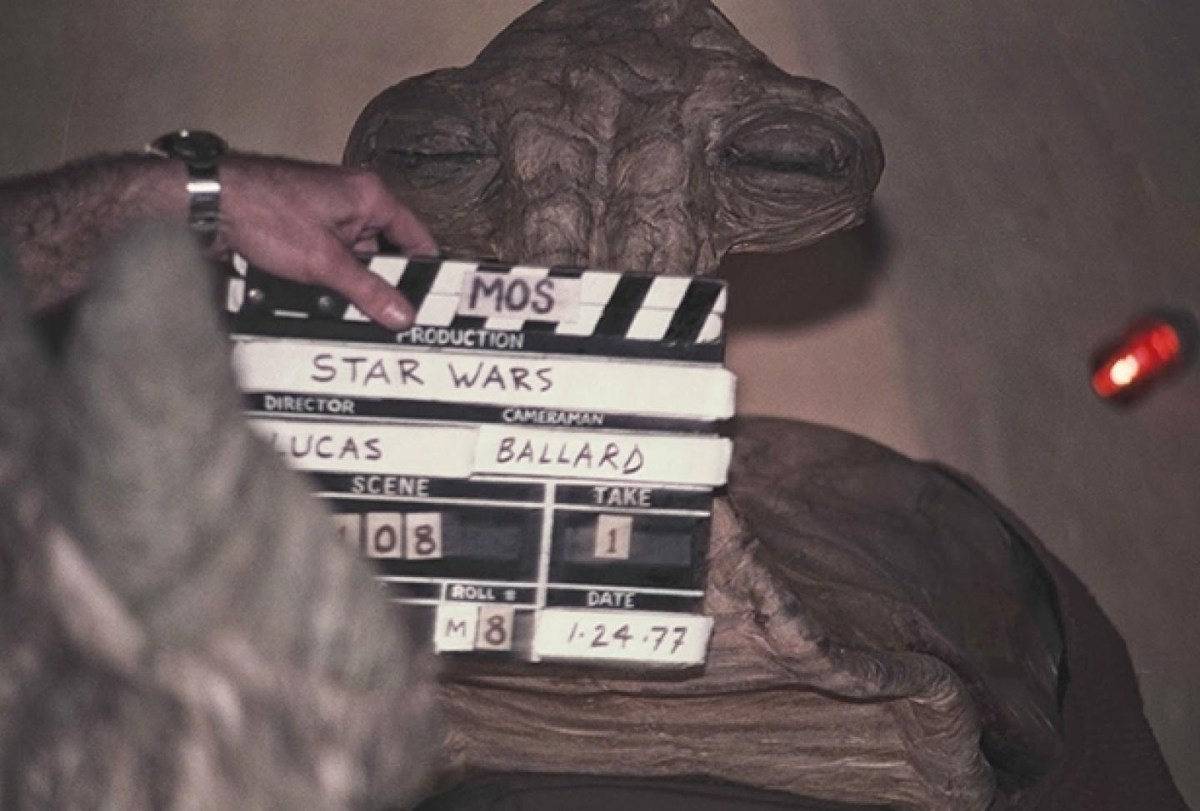 Star Wars slate Behind the Scenes