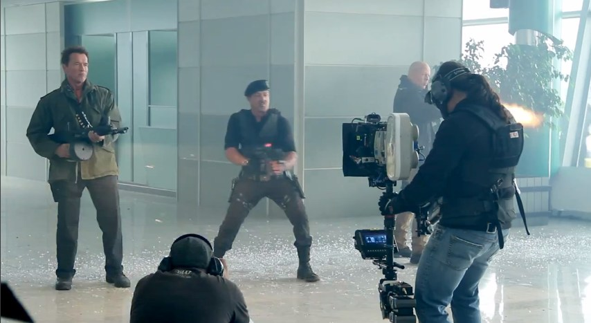 The Expendables 2 Behind the Scenes Photos & Tech Specs