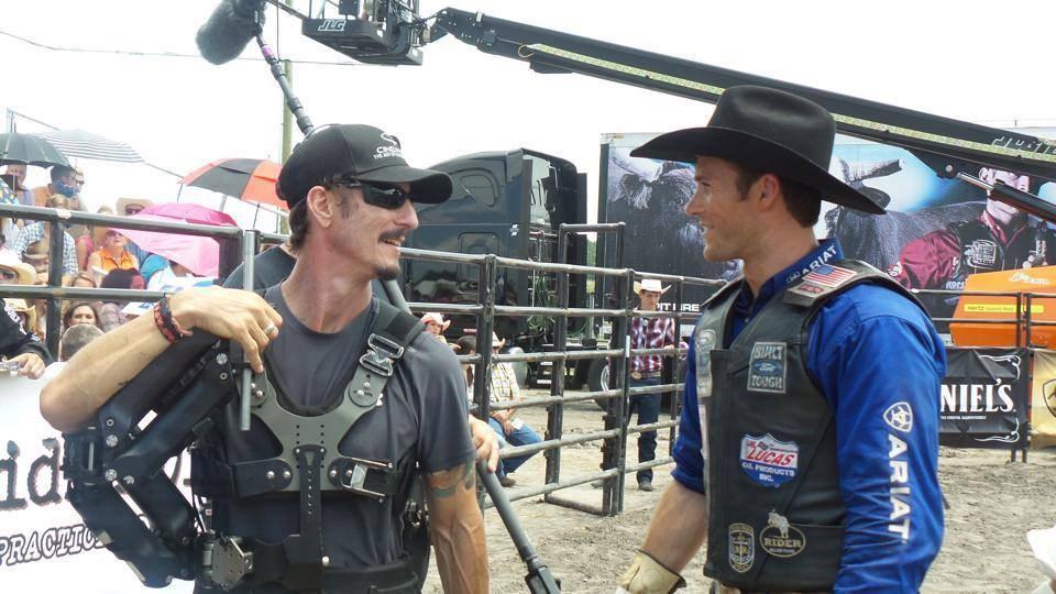 Scott Eastwood on set Behind the Scenes