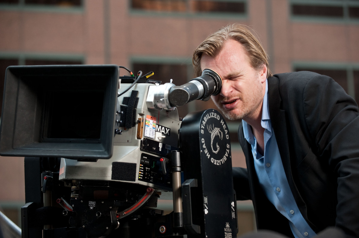Nolan Readies the Shot Behind the Scenes
