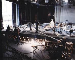 The city in Logan's Run - Behind the Scenes photos