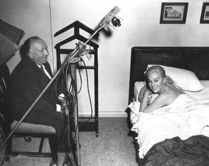 Kim Novak and Alfred Hitchcock Behind the Scenes
