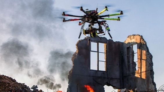 Drones approved by FAA for movie-making. Behind the Scenes