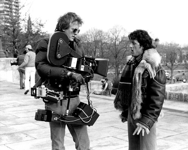 Garrett Brown and Sylvester Stallone Behind the Scenes