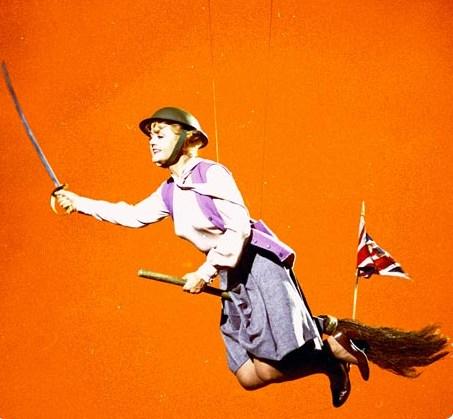 Miss Eglantine Price in Flight Behind the Scenes