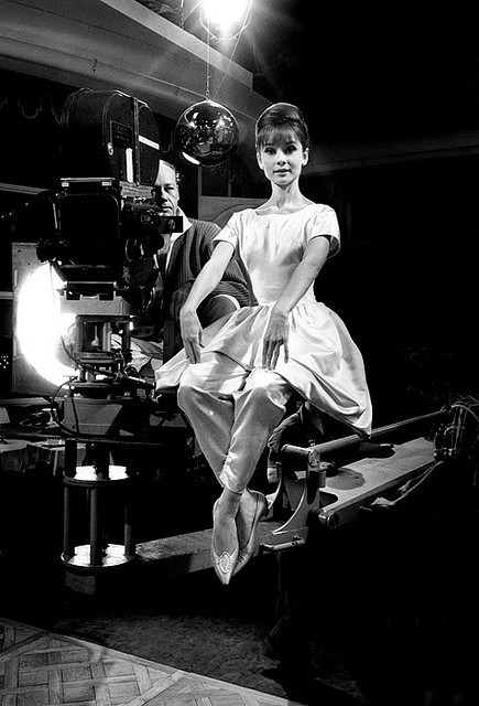 A Lady – Balanced on the Crane Behind the Scenes