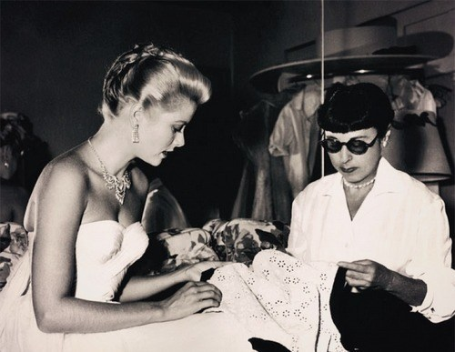Grace Kelly and Edith Head Behind the Scenes