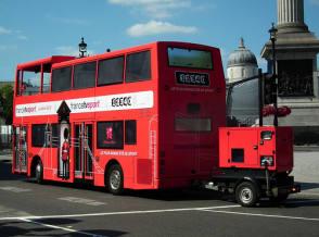 London Bus Retrofit - Behind the Scenes photos