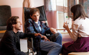 Eddie Redmayne as Stephen Hawking - Behind the Scenes photos