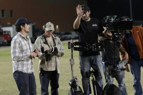 James Franco football 3D - Behind the Scenes photos