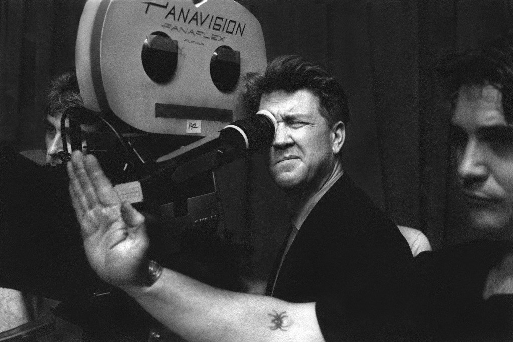David Lynch frames a shot Behind the Scenes