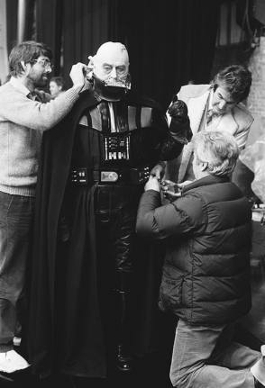 Prepping Darth Vader - Behind the Scenes photos