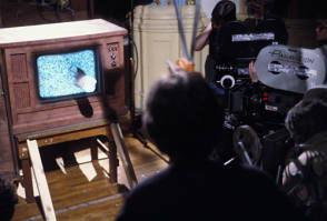 The TV in Videodrome - Behind the Scenes photos
