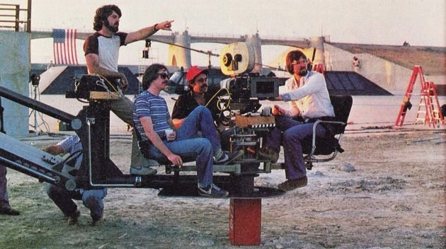 Behind the scene photo from the film Escape from New York Behind the Scenes