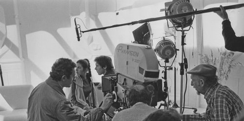 Han and Leia on the set of The Empire Strikes Back Behind the Scenes