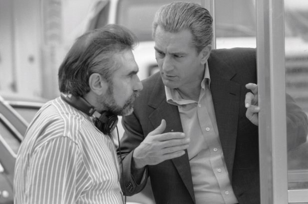 Martin Scorsese With Robert De Niro Behind the Scenes