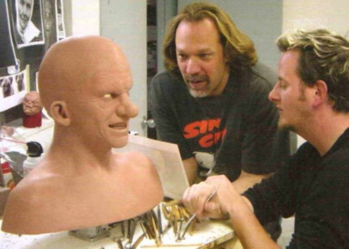 Sculpting the Yellow Bastard's Head : Sin City (2005) Behind the Scenes