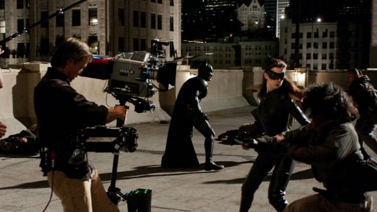 The Dark Knight Rises 2012 : Batman & Catwoman Behind the Scenes