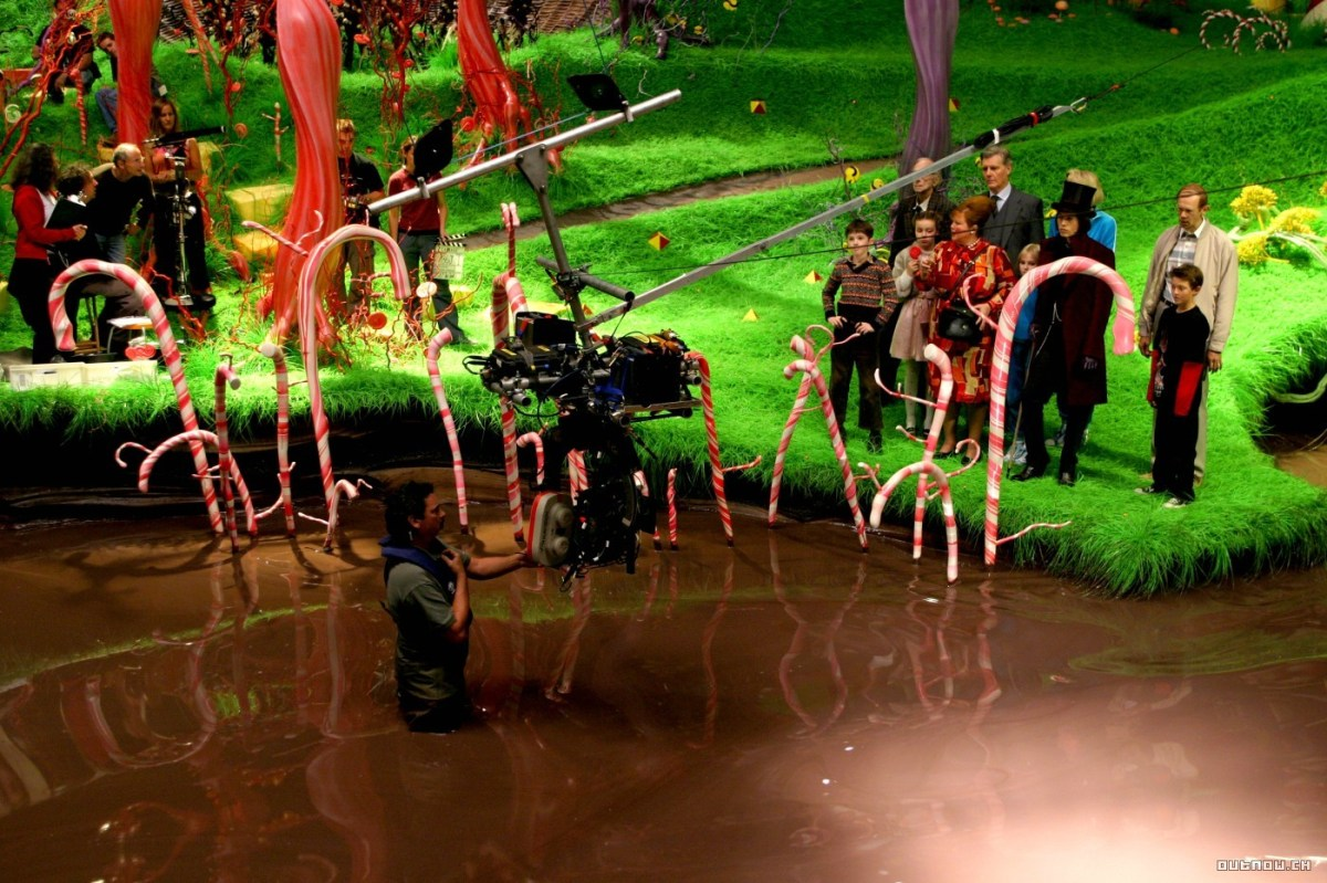 Very Beautiful Image from the Charlie and the Chocolate Factory Behind the Scenes