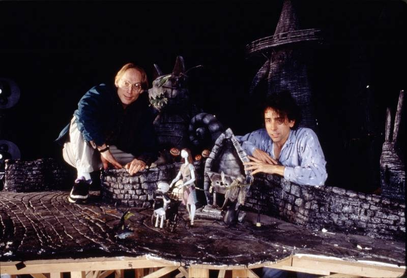 Henry Selick with Tim Burton Behind the Scenes