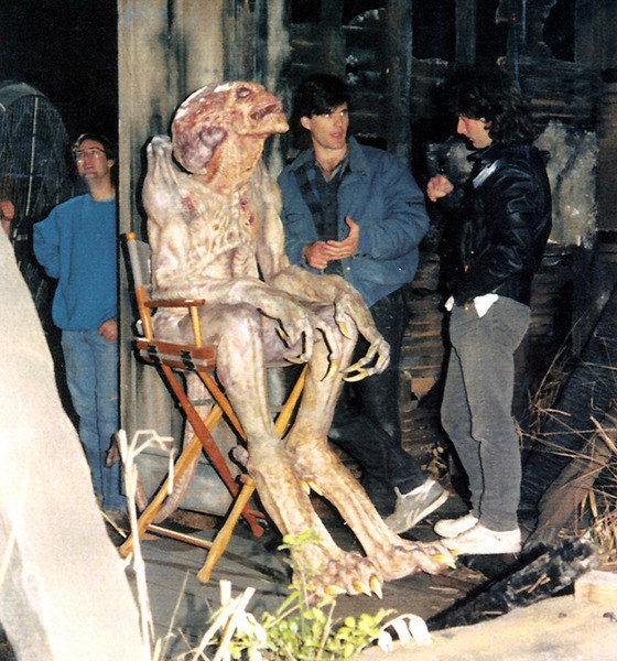 Pumpkinhead During A Break Behind the Scenes