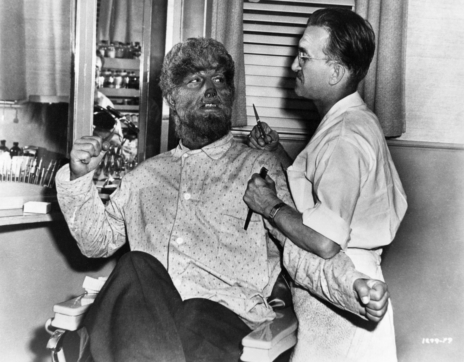 During The Production Of The Film The Wolf Man (1941) Behind the Scenes