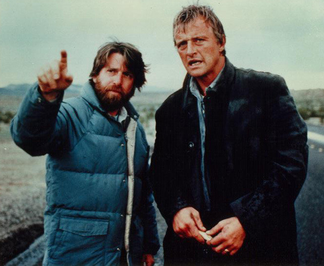 Robert Harmon With Rutger Hauer Behind the Scenes