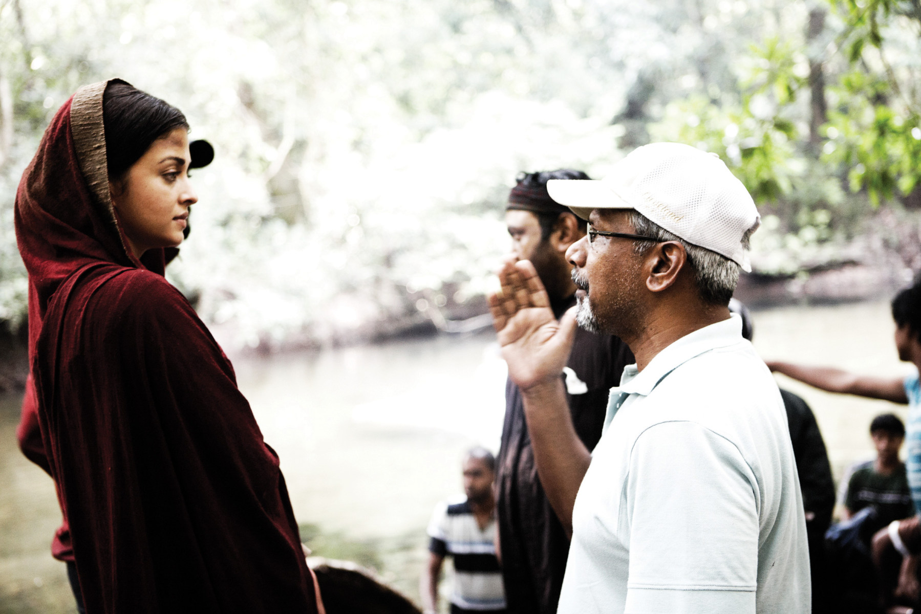 Aishwarya Rai and Mani Ratnam Behind the Scenes