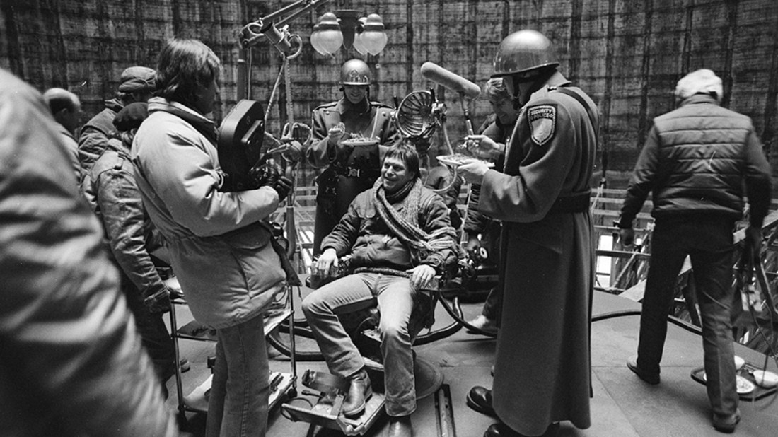 Director Terry Gilliam On The Set Behind the Scenes