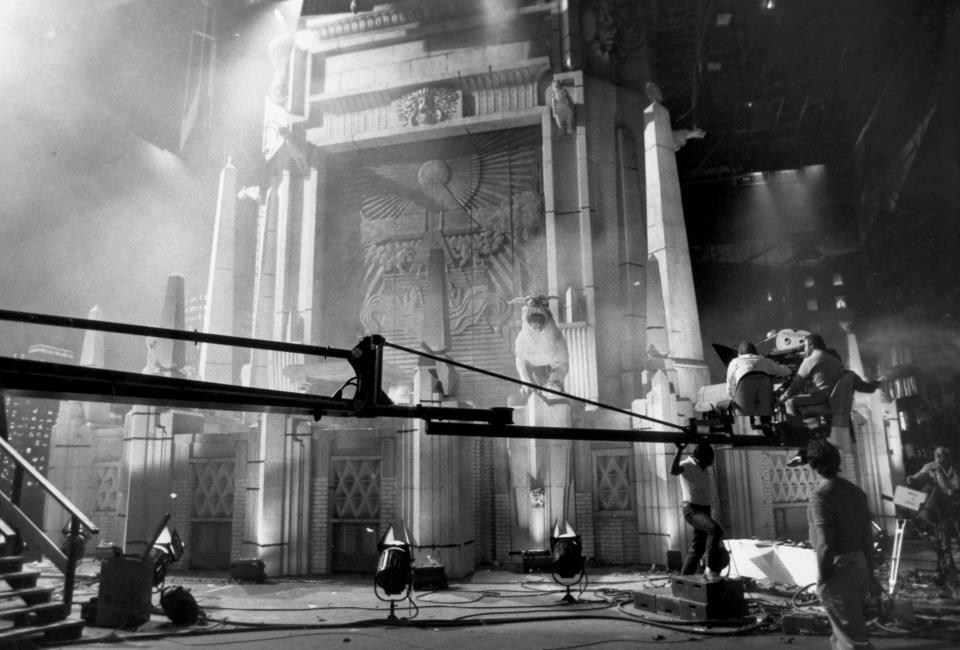 Filming near the Temple of Gozer : Ghostbusters (1984) Behind the Scenes