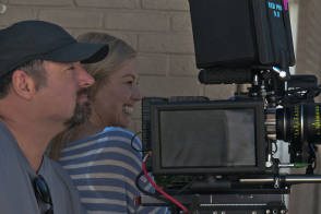 Rosamund Pike On the Set of Gone Girl