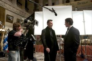 Bruce Wayne with Henri Ducard : Batman Begins 2005 - Behind the Scenes photos