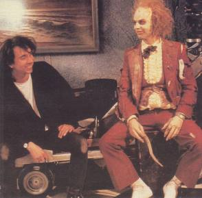 Tim Burton with Michael Keaton - Behind the Scenes photos