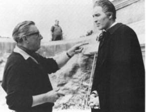 Terence Fisher Directs Christopher Lee - Behind the Scenes photos