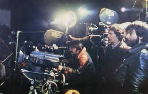 Tobe Hooper with Steven Spielberg - Behind the Scenes photos