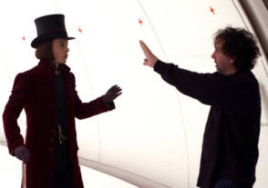Johnny Depp with Tim Burton - Behind the Scenes photos