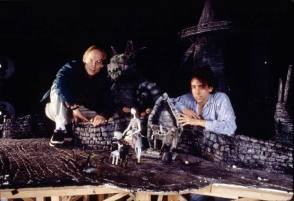 Henry Selick with Tim Burton - Behind the Scenes photos