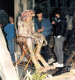Pumpkinhead During A Break - Behind the Scenes photos