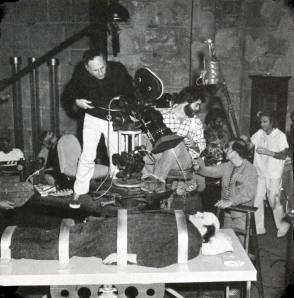 Filming Young Frankenstein (1974) - Behind the Scenes photos