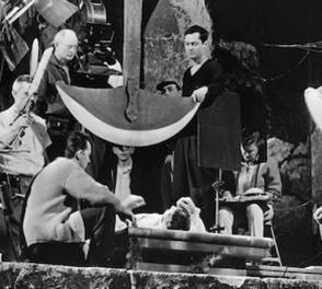 On The Set Of The Pit and the Pendulum (1961)