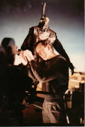 Working On A Special Suit Of Hellbound: Hellraiser II (1988) - Behind the Scenes photos
