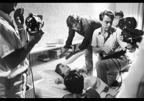 Roman Polanski directs Mia Farrow - Behind the Scenes photos