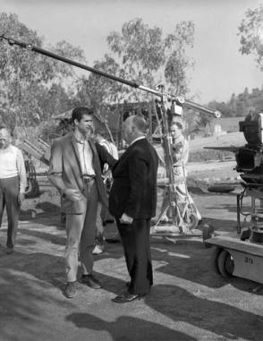 Behind The Camera : Anthony Perkins & Alfred Hitchcock - Behind the Scenes photos