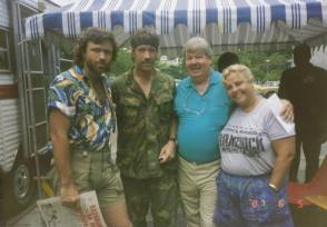Chuck Norris and Aaron Norris - Behind the Scenes photos