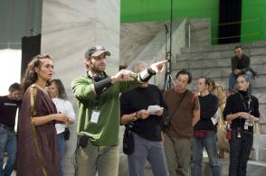 Zack Snyder and Lena Headey - Behind the Scenes photos