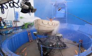 Boat Scene : Life Of PI (2012) - Behind the Scenes photos
