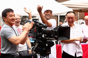 Fun times on the Set of The Karate Kid (2010)